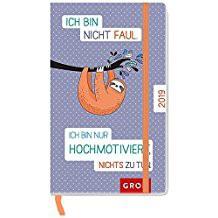 Groh praktischer Taschenkalender 2019 Ich bin nicht faul! Ich bin nur hochmotiviert nichts zu tun. 2019