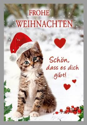 Depesche 3D Weihnachtsklappkarte 007 - Frohe Weihnachten Schön, dass es dich..