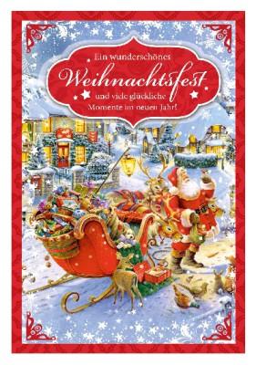 Depesche 3D Weihnachtsklappkarte 021 Ein wunderschönes Weihnachtsfest und...