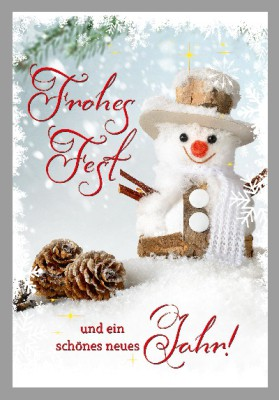Depesche 3D Weihnachtsklappkarte 023 Frohes Fest und ein schönes neues Jahr!