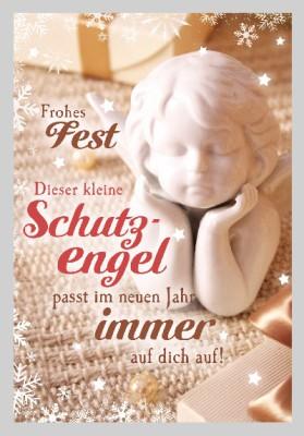 Depesche 3D Weihnachtsklappkarte 034 Frohes Fest Dieser kleine Schutzengel...