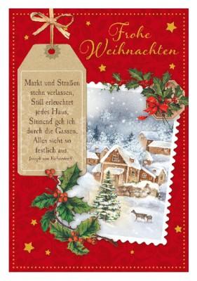 Depesche 3D Weihnachtsklappkarte 036 rohe Weihnachten Markt und Straßen...