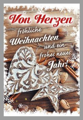 Depesche 3D Weihnachtsklappkarte 040 Von Herzen fröhliche Weihnachten und...