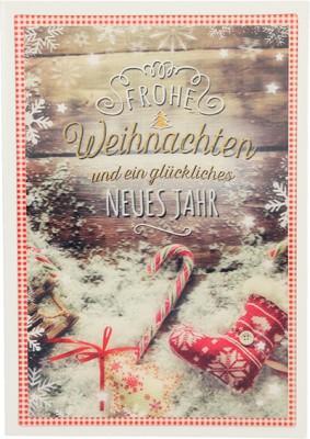 Depesche 3D Weihnachtsklappkarte 054 Frohe Weihnachten und ein glückliches...