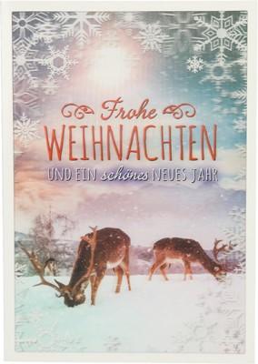 Depesche 3D Weihnachtsklappkarte 056 Frohe Weihnachten und ein schönes...