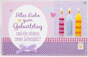Klappkarte für Geldgeschenke 2239-055 Alles Liebe zum Geburtstag und ein ...