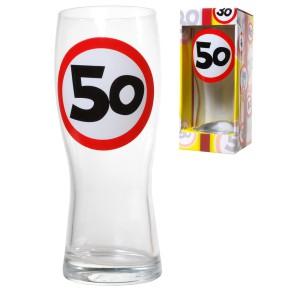 Bierglas 50 zum 50.Geburtstag