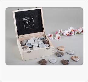 1 Stück Natürlicher Marmor-Stein mit Wort 1 Modell sortiert