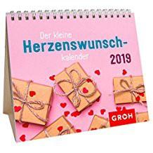 Groh Mini-Kalender 2019 zum Aufstellen Der kleine Herzenswunschkalender 2019