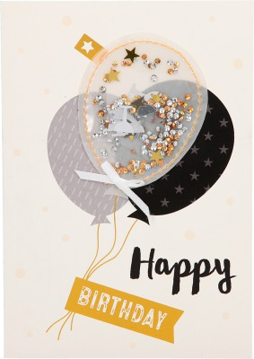 100% Glitzer Geburtstagskarte Anlasskarte Klappkarte10496-020: Happy Birthday