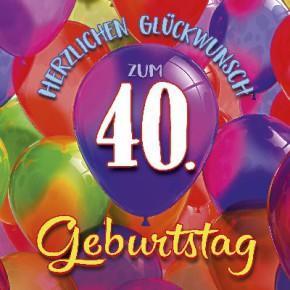 Depesche 3D Klappkarte 003c Herzlichen Glückwunsch zum 40. Geburts..
