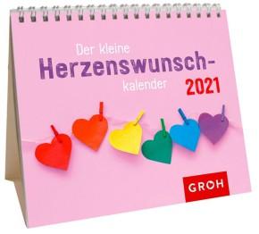 Groh Mini-Kalender zum Aufstellen für 2021 Der kleine Herzenswunschkalender