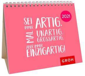 Groh Mini-Kalender zum Aufstellen für 2021 für starke Frauen
