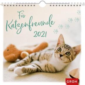 Groh Wandkalender 2021 Für Katzenfreunde