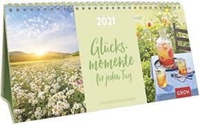 Groh 3-teiliger Tischkalender 2021 Glücksmomente für jeden Tag