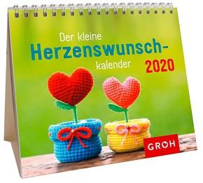Groh Mini-Monatskalender 2020 Der kleine Herzenswunschkalender