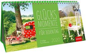 Groh 3-teiliger Tischkalender 2020 Glücksmomente für jeden Tag