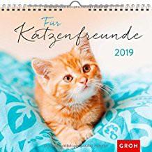 Groh Wandkalender 2019 Für Katzenfreunde