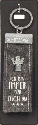 Depesche Schutzengel Filz Glücksfilz Schlüsselanhänger Grau - Ich bin immer für dich da!