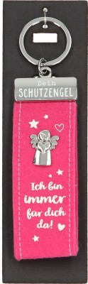 Depesche Schutzengel Filz Glücksfilz Schlüsselanhänger Rosa - Ich bin immer für dich da!