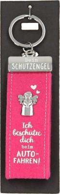Depesche Schutzengel Filz Glücksfilz Schlüsselanhänger Rosa- Ich beschütze dich beim Autofahren