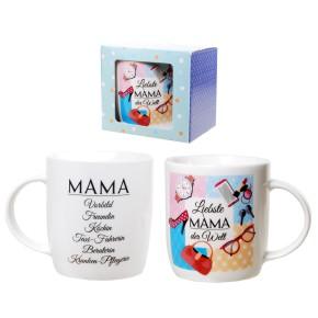 Porzellan Becher Liebste Mama