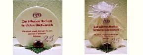 Geschenk Kerze zur Silberhochzeit Artikel SD167126