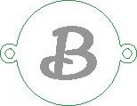 Versilbertes Namensarmband mit Buchstabe B