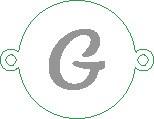 Versilbertes Namensarmband mit Buchstabe G