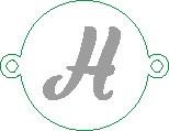 Versilbertes Namensarmband mit Buchstabe H