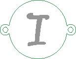 Versilbertes Namensarmband mit Buchstabe I