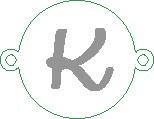 Versilbertes Namensarmband mit Buchstabe K