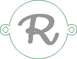 Versilbertes Narmenarmband mit Buchstabe R