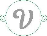 Versilbertes Namensarmband mit Buchstabe V