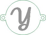 Versilbertes Namensarmband mit Buchstabe Y