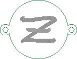 Versilbertes Namensarmband mit Buchstabe Z