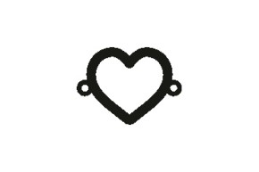 Versilbertes Armband mit Spruch Herz (Symbol)