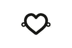 Versilbertes Narmenarmband mit Spruch Herz (Symbol)