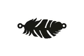 Versilbertes Narmenarmband Feder (Symbol)