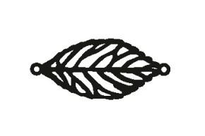 Versilbertes Narmenarmband Blatt (Symbol)