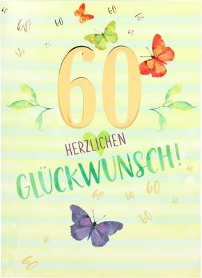 Depesche Portofino Klappkarten Geburtstagskarten 005 - 60 Herzlichen Glückwunsch!