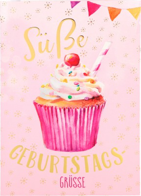 Depesche Portofino Klappkarten Geburtstagskarten 015 - Süße Geburtstagsgrüße!