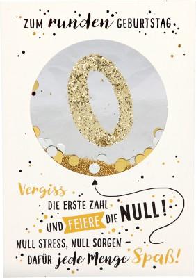 100% Glitzer Geburtstagskarte Anlasskarte Klappkarte10496-028: Zum runden Geburtstag Vergiss die...