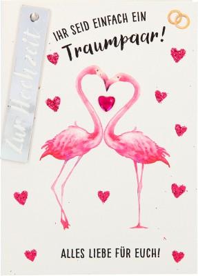 100% Glitzer Geburtstagskarte Anlasskarte Klappkarte10496-047: Ihr seid einfach ein Traumpaar! Alles..