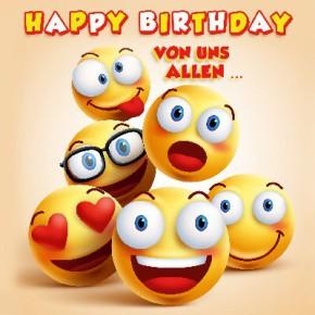 Depesche 3D Klappkarte 008 Happy Birthday von uns allen...