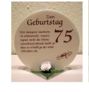 Geschenk Kerze zum 75. Geburtstag Grundpreis 139,30€/kg