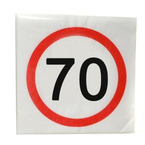 """Servietten """"70"""", 12-tlg. zum 70. Geburtstag"""