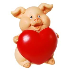 Sparschwein mit Herz