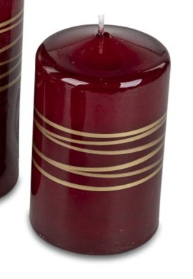 Festliche Stumpenkerze 7x11 cm Spirale Farbe rot-gold 265g 37,55 EUR Grundpreis 1kg