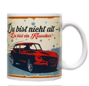 """Retro-Becher """"Auto"""" Motiv 01 Du bist nicht alt"""